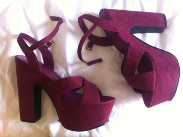shoes summer shoes platform shoes sandals heel sandals blok heels high heels heels purple shoes heels purple shoes high heels glam cute pretty want suede burgundy red heels pumps gorgeous