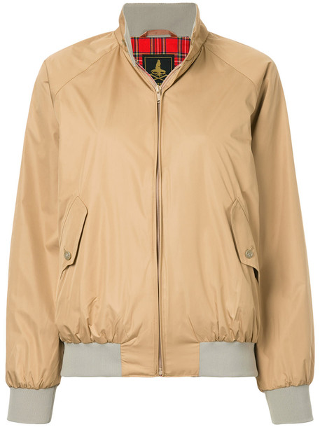 Hysteric Glamour - stand-up collar bomber jacket - women - Polyester/Rayon - S, Nude/Neutrals, Polyester/Rayon