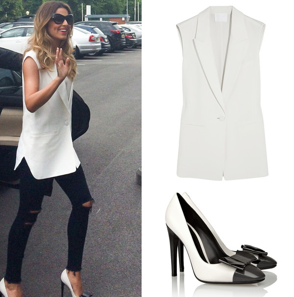 shoes cheryl cole vest pants coat