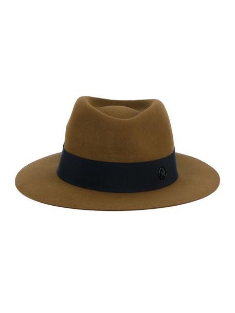 Maison Michel Felt Andre Hat, Women's, Size: Medium, Yellow/Orange, Cotton