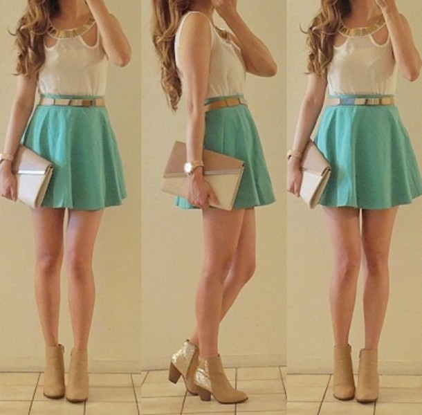 jewels hipster tiffany blue cute outfit hipster girl Belt bag envelope
