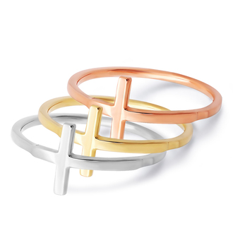 jewels cross cross ring fashion ring gold rose gold white gold yellow gold knuckle ring fashion ring 14k gold jewelry