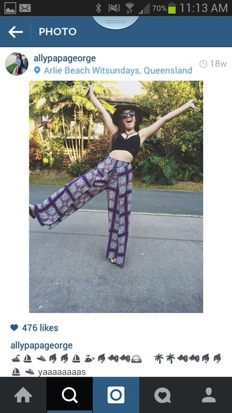 pants tribal pattern hippie boho shirt