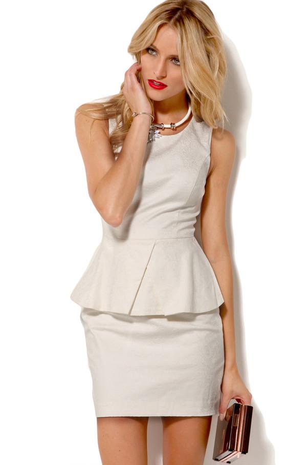 Dress: white dress sexy dress party dress cocktail dress ...