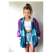 jacket,purple,green,blue,90s style,jacker,aesthetic,grunge,tumblr,tumblr aesthetic,indie,britpop,colorful,stylish,style,windbreaker,vintage jacket,90s jacket,puma,vintage,neon,80s style,love,top,shorts,short,long sleeves