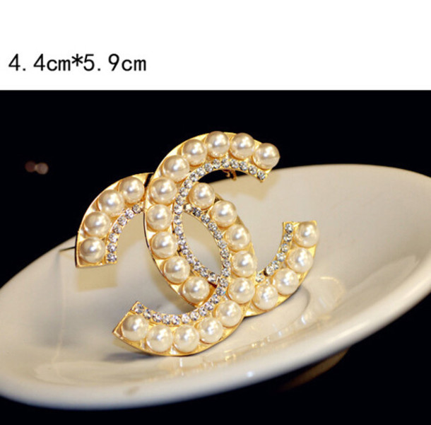 526c4c60532 jewels cc brooches brooches for women cc jewelry cc pearl brooches pin cc  chanel
