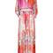 Roberto cavalli - floral printed dress - women - silk - 40, pink/purple, silk