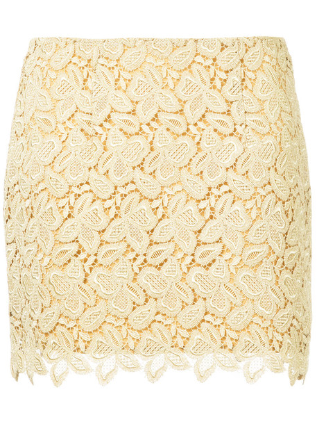 macgraw skirt mini skirt mini embroidered women silk crochet grey metallic