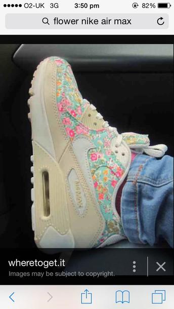 shoes flower nike air max