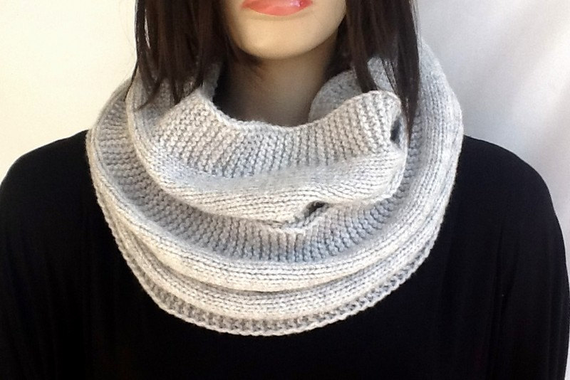 Knit scarf Snood Scarf Hood Scarf Smoked Gray Unisex Infinity Scarf Scarves Winter Fashion Scarf Accessories For Her senoAccessory