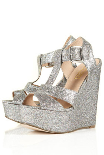 shoes silver shoes silver platforms sparkle prom shoes