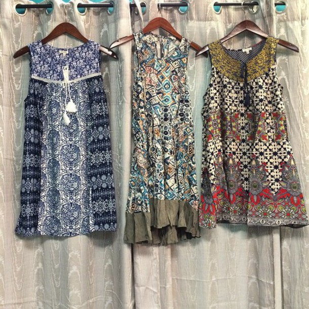 dress boho dress mini dress pattern summer dress summer indie boho