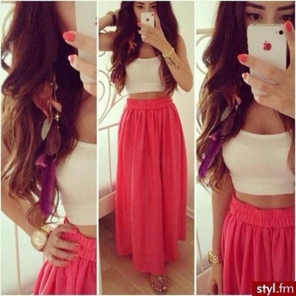 skirt long skirt long skirt with bow zuiki top with long skirt shirt