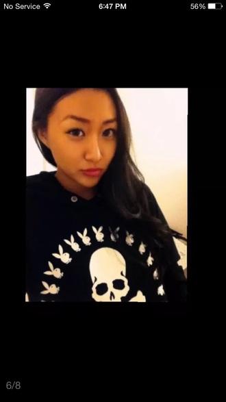 sweater playboy skull sweater