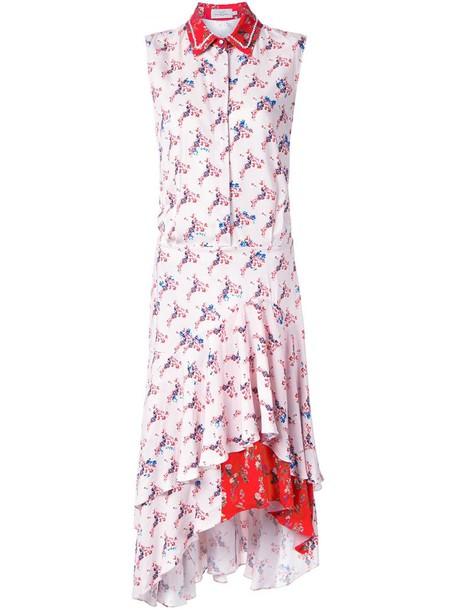 PREEN BY THORNTON BREGAZZI dress shirt dress ruffle women purple pink