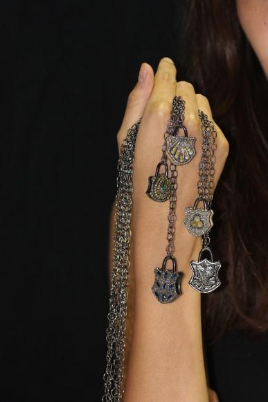 jewels necklace silver jewelry diamonds lock pendant fashion necklace silver necklace chain necklace lock necklace charm necklace charm pendant sterling silver jewelry fashion jewelry designer jewelry