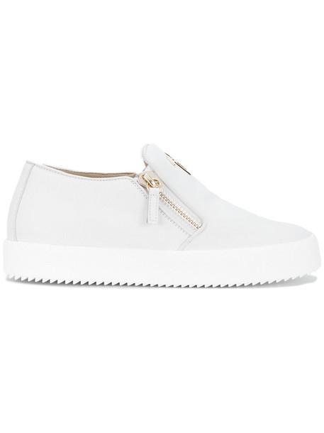 GIUSEPPE ZANOTTI DESIGN women sneakers leather white shoes