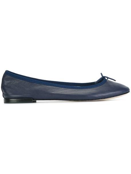 Repetto women leather cotton blue shoes