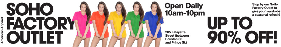 Fashionable basics. sweatshop free. made in usa.