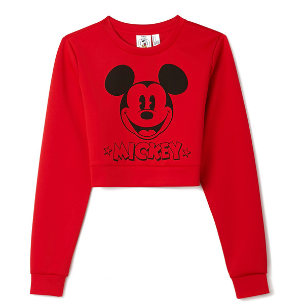 FOREVER 21 Classic Mickey Crop Top - Polyvore