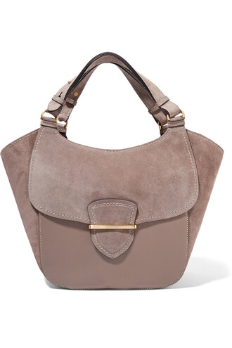 leather suede bag