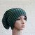 Chunky tricoter bonnet en vert / bonnet tricoté pour hommes / Chunky tricot Traînassent le chapeau / chapeau/Slouchy bonnet d'hiver