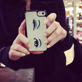 phone cover eyes eye shadow cover iphone cover chic style stylish fashion cute white iphone case