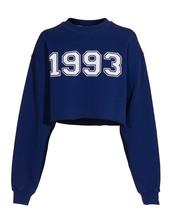 sweater,msgm 1993 electric blue cropped sweatshirt,MSGM,1993,cropped sweater,sweatshirt