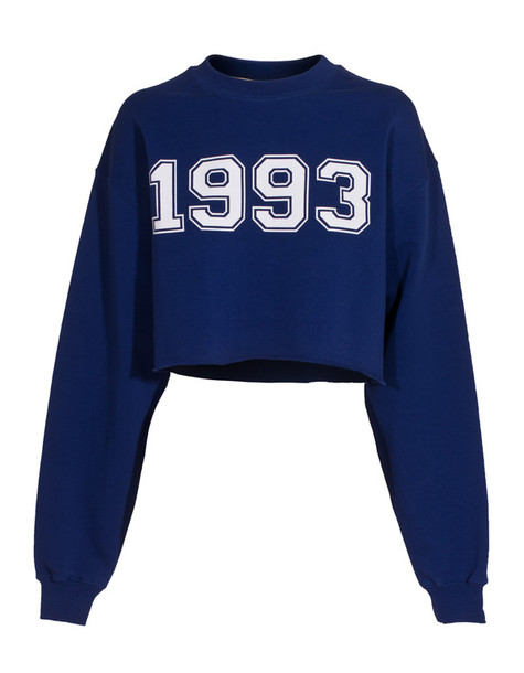 sweater msgm 1993 electric blue cropped sweatshirt MSGM 1993 cropped sweater sweatshirt