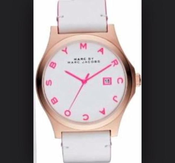 t-shirt marc by marc jacobs marc jacobs watch white pink