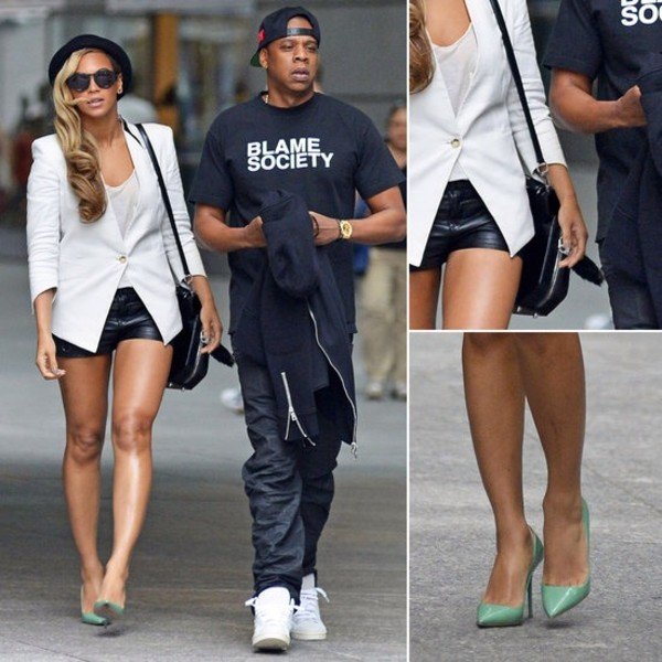 shoes beyonce shorts coat