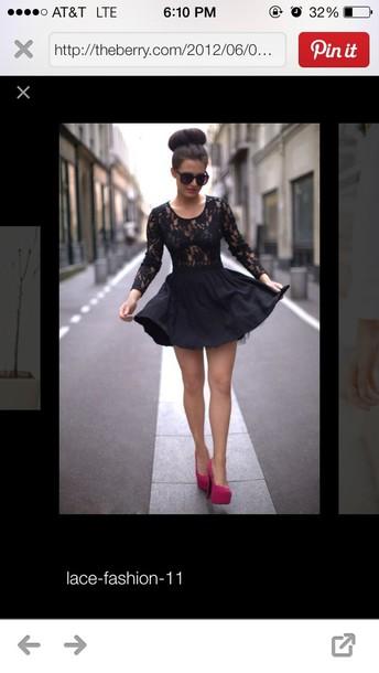 dress black short lacy dress backless
