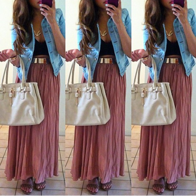 Watch more like Maxi Skirt Outfits Tumblr