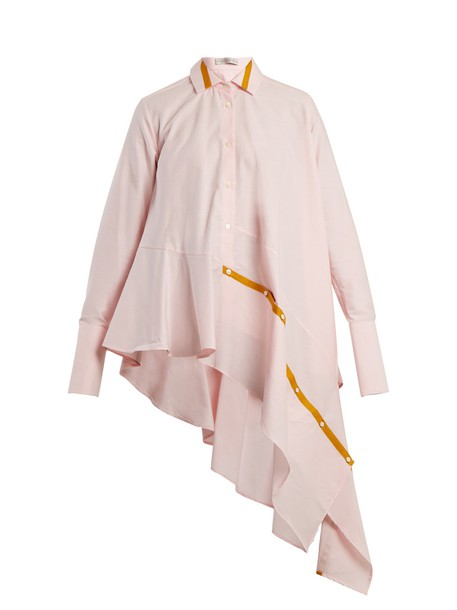shirt cotton light pink light pink top