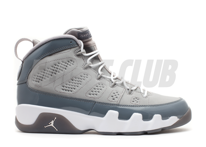 "air jordan 9 retro (gs) ""cool grey 2012 release""  
