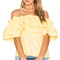 Edit double ruffle off shoulder top in yellow from revolve.com
