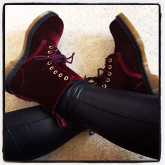 shoes red shoes suede red shoes boots doc. martens boots