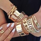 jewels,gold,arrow,bracelets,bangle,knuckle ring,bracelet sets,chain,gold bracelet
