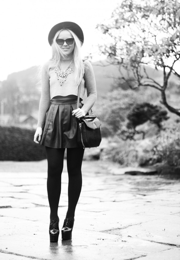 cath in the city sweater jewels skirt shoes hat bag