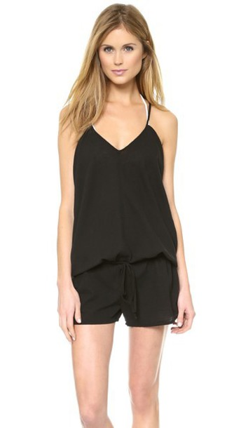 9Seed Corsica Cover Up Romper - Black