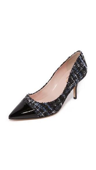 pumps blue black shoes