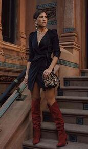 dress,blogger,fashion week,rocky barnes,instagram,fall outfits,mini dress,black dress
