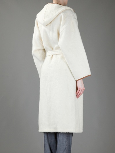 Max Mara Vintage Leather Trimmed Coat - House Of Liza - Farfetch.com