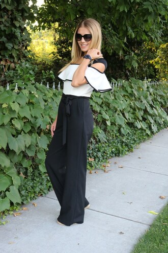 birdalamode blogger jumpsuit sunglasses jewels
