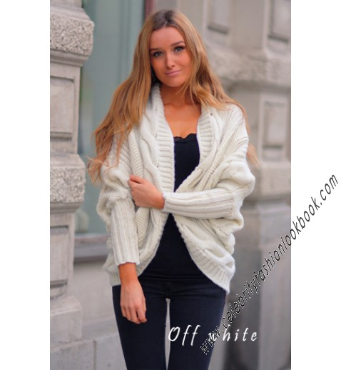 Cable Wool Cardigan - Cardigans - Knitwears - Clothing