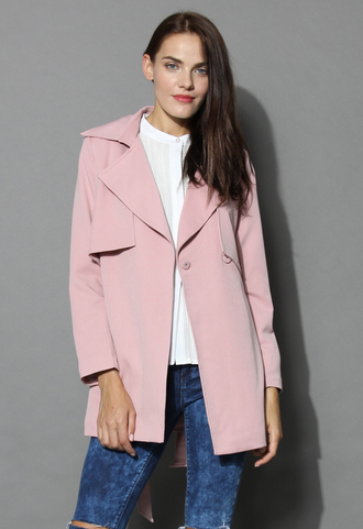 coat the best of timeless trench coat in pink chicwish trench coat pink coat