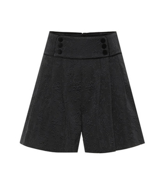 Dolce & Gabbana Floral jacquard shorts in black
