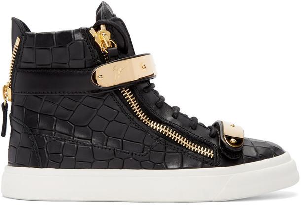Giuseppe Zanotti high london sneakers black shoes