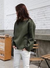 sweater,green,streetwear,streetstyle,trendy,olive green