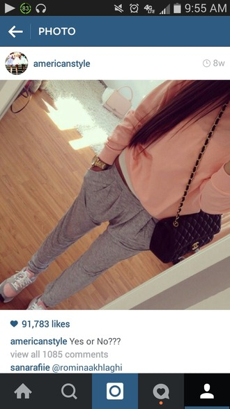 shirt sporty chanel purse nike shoes gloves pants